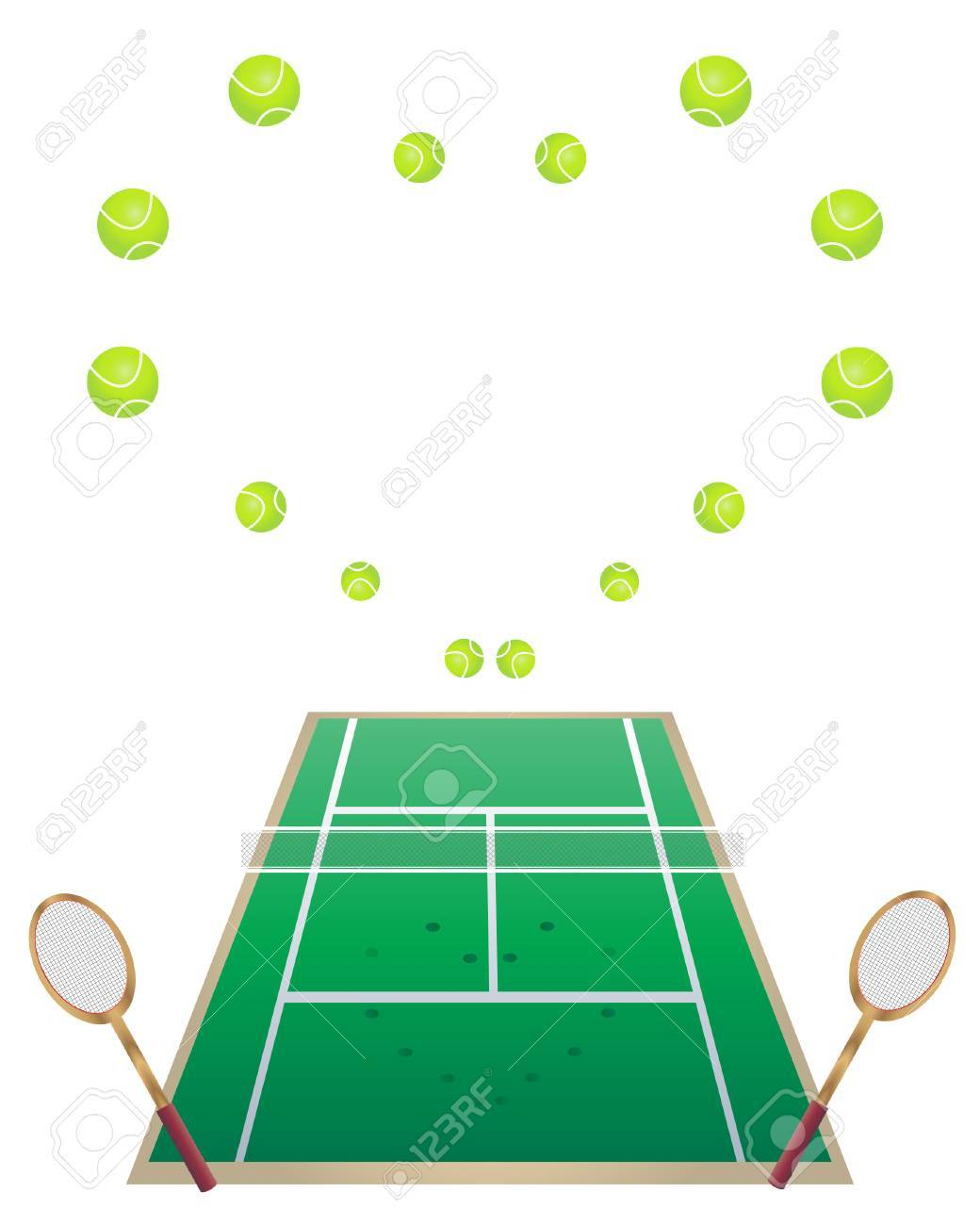 Lawn Tennis an Illustration