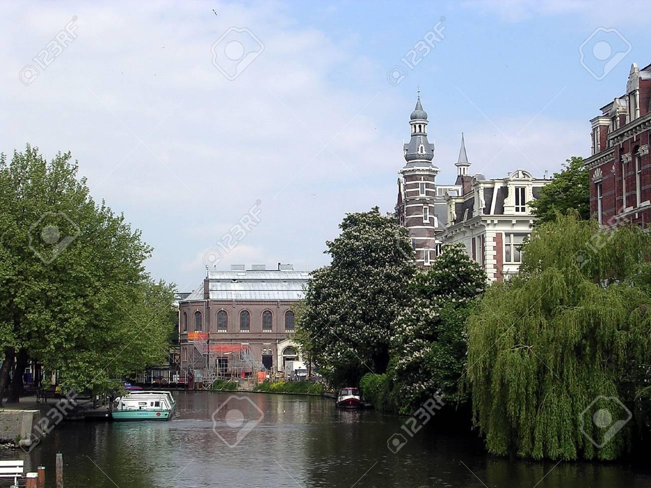 Nassaukade street and canal in Amsterdam, Netherlands Stock Photo - 7304983