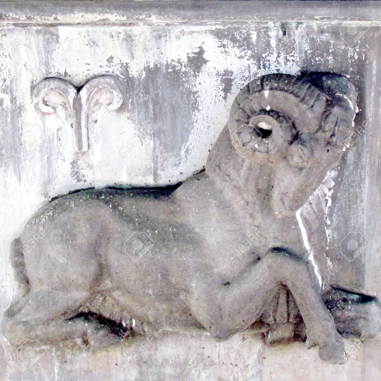 牡羊座の星座彫刻ワシントン DC...