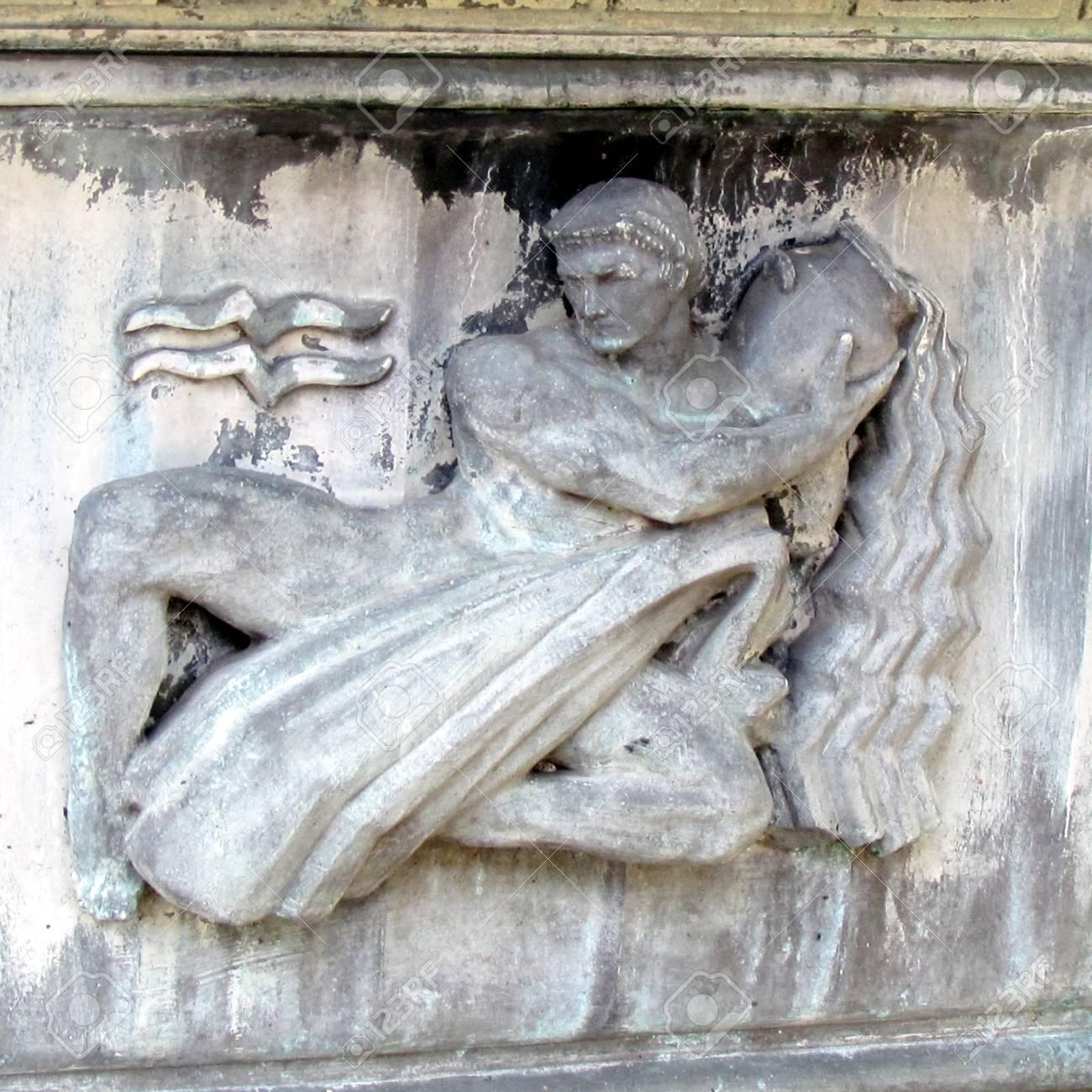 アクエリアス星座彫刻ワシントン...