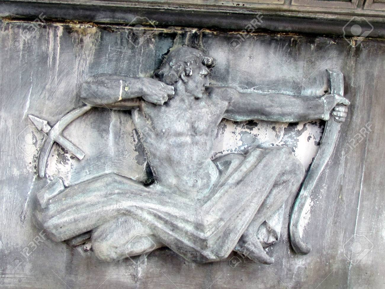 Sagittarus 星座彫刻ワシントン ...