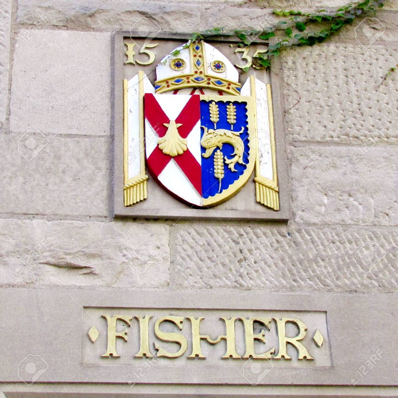 coat arms on fisher house of st michael u0027s college in the