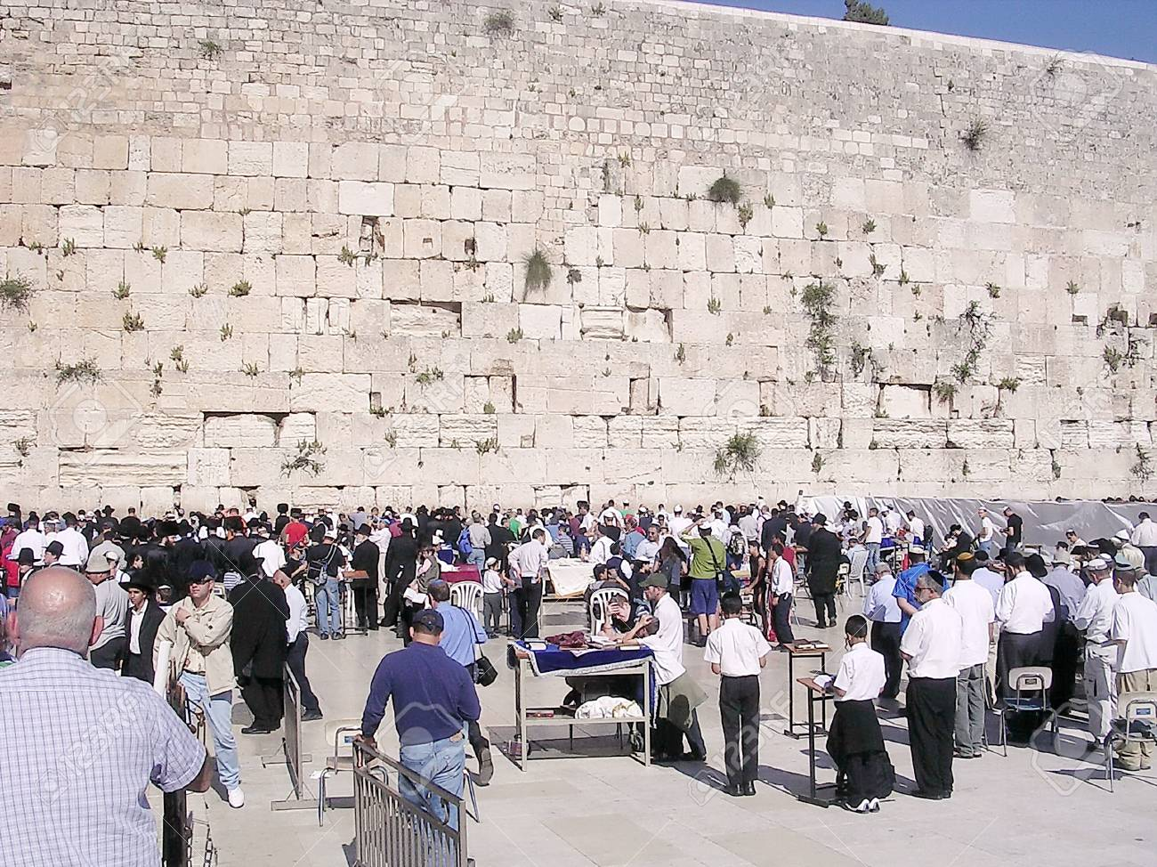 Offer prayers at the Wailing Wall in Jerusalem, Israel