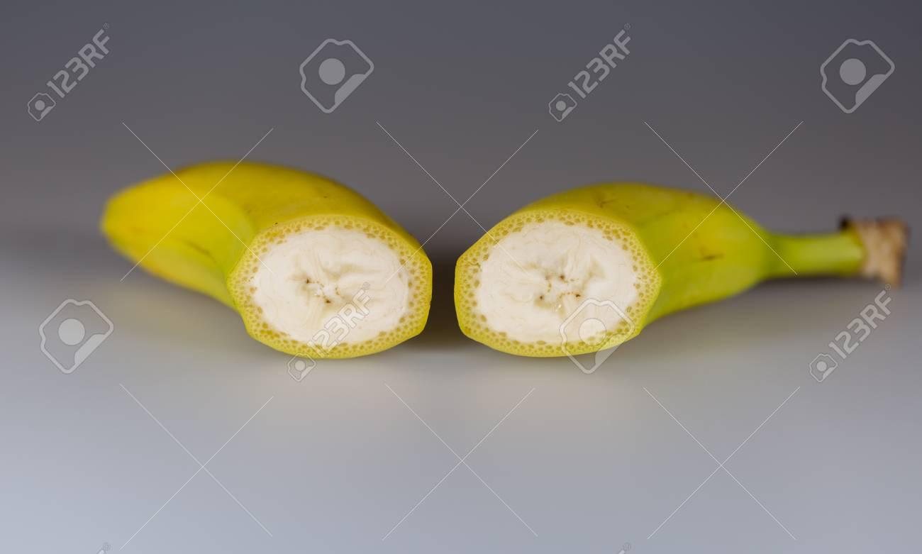 Banana Sliced in Half - 51299510