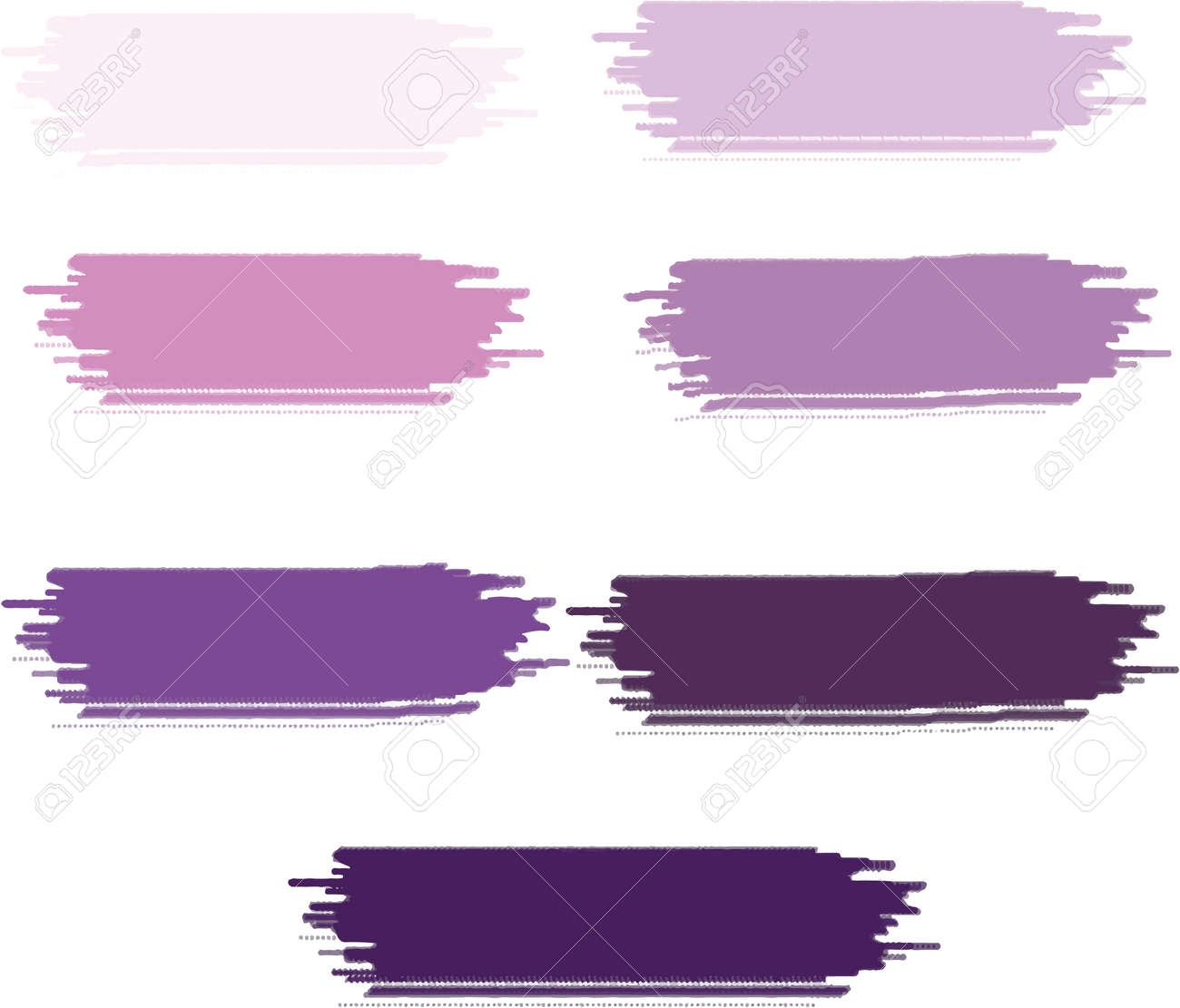 Stock Photo - Colorful watercolor brush stroke collection backgrounds. - 169739146