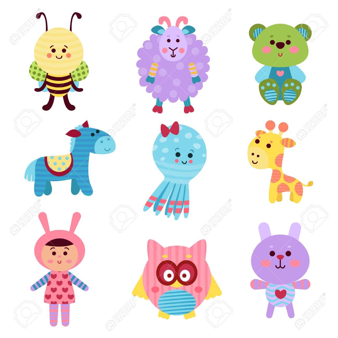 Juguetes Y Animales De Dibujos Animados Lindo Bebe Conjunto De
