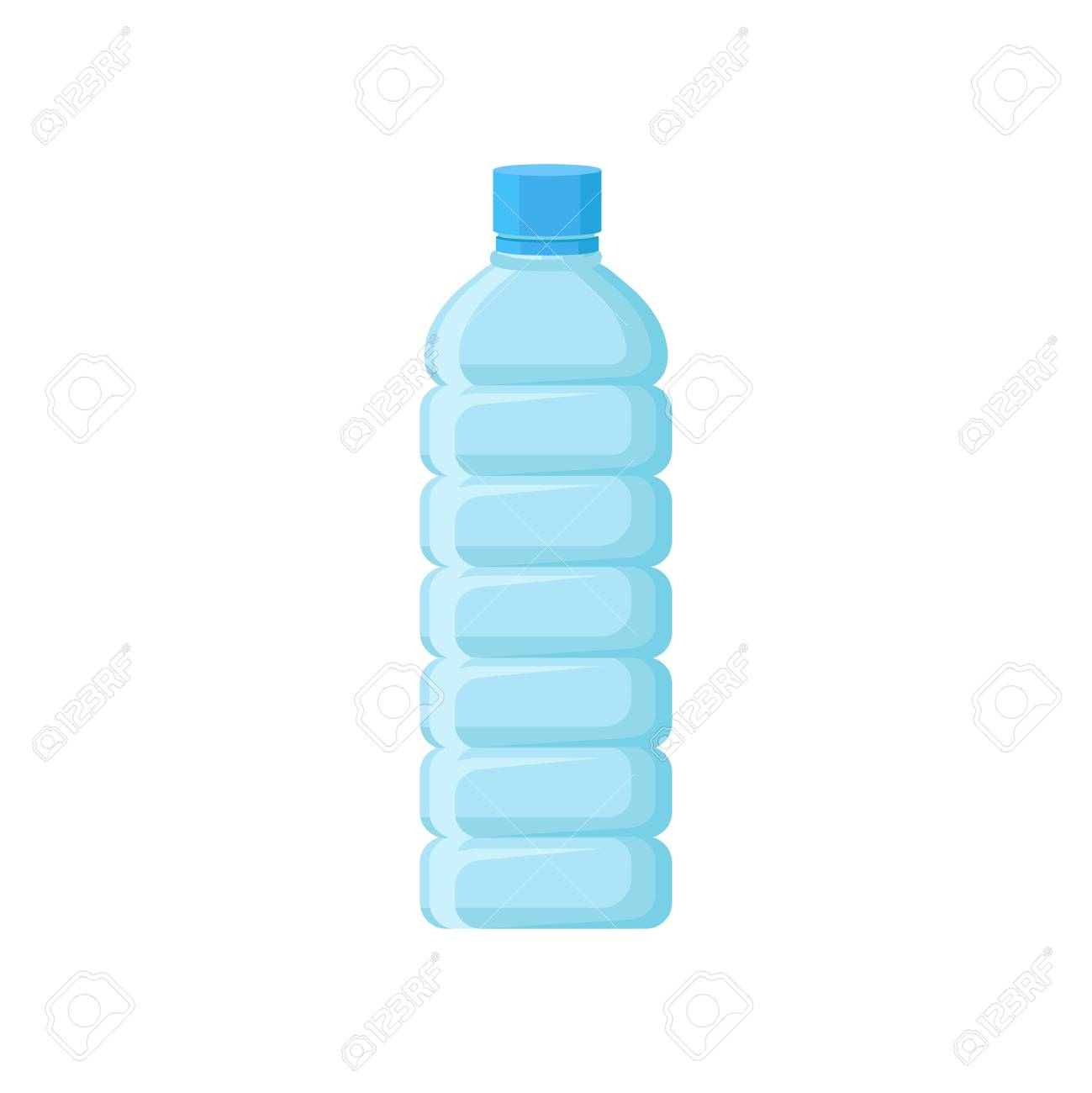 Empty Plastic Bottle With Blue Lid Transparent Container For Royalty Free Cliparts Vectors And Stock Illustration Image 102582867