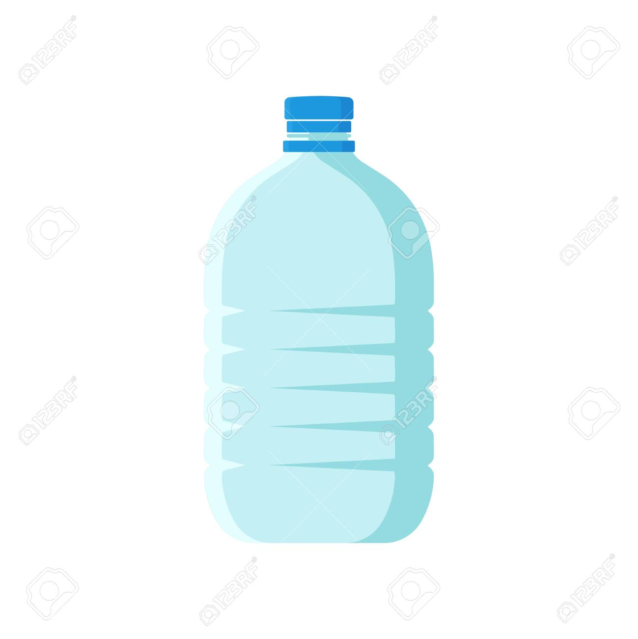 Large Plastic Bottle With Blue Lid Empty Transparent Container Royalty Free Cliparts Vectors And Stock Illustration Image 103776693