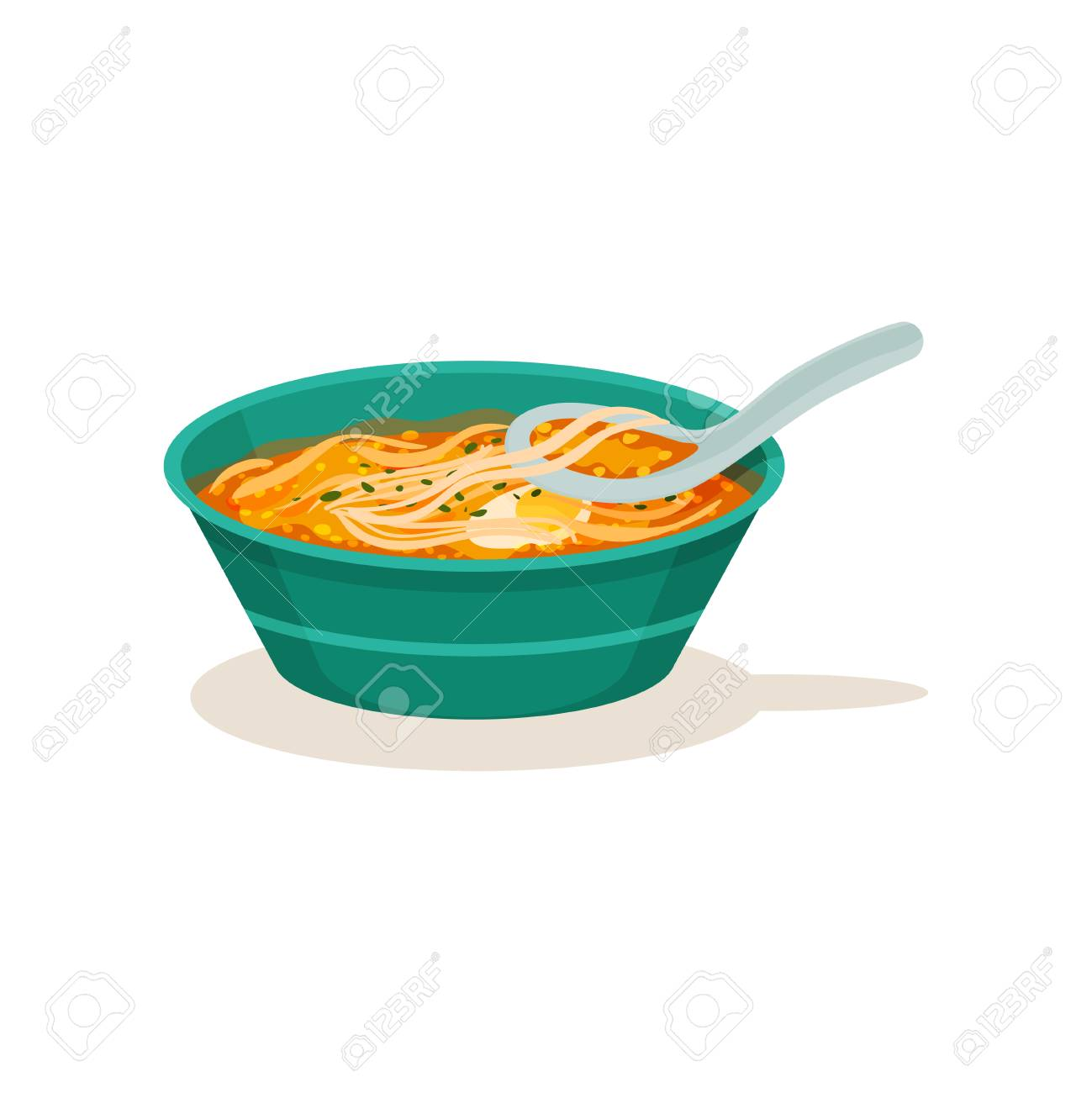 Bowl Of Laksa Soup Or Curry Mee With Noodle And Half Of Boiled Stock Photo Picture And Royalty Free Image Image 113503730