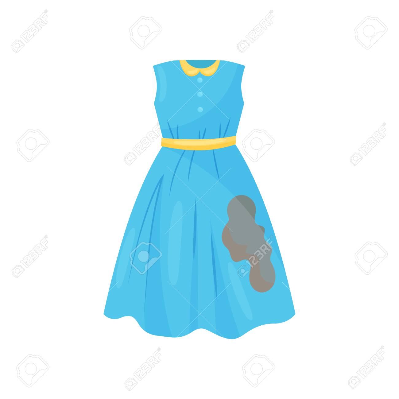 blue dress cartoon