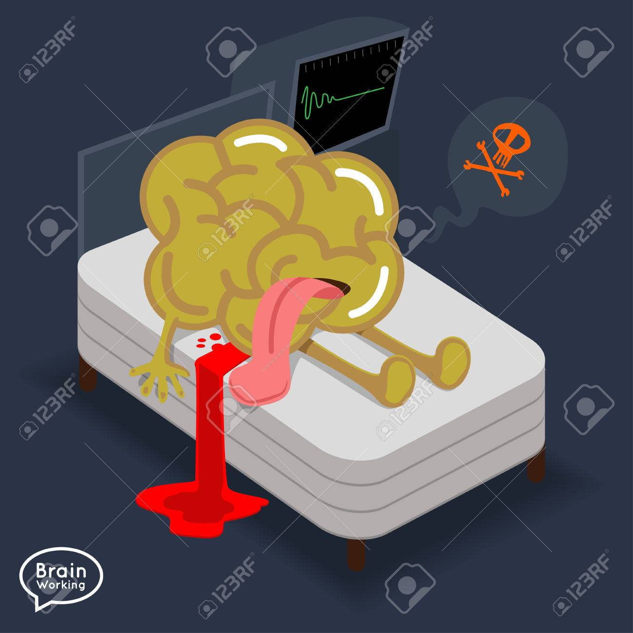 a9ee4a2a0f91 Brain dead on the bed Stock Vector - 22785670