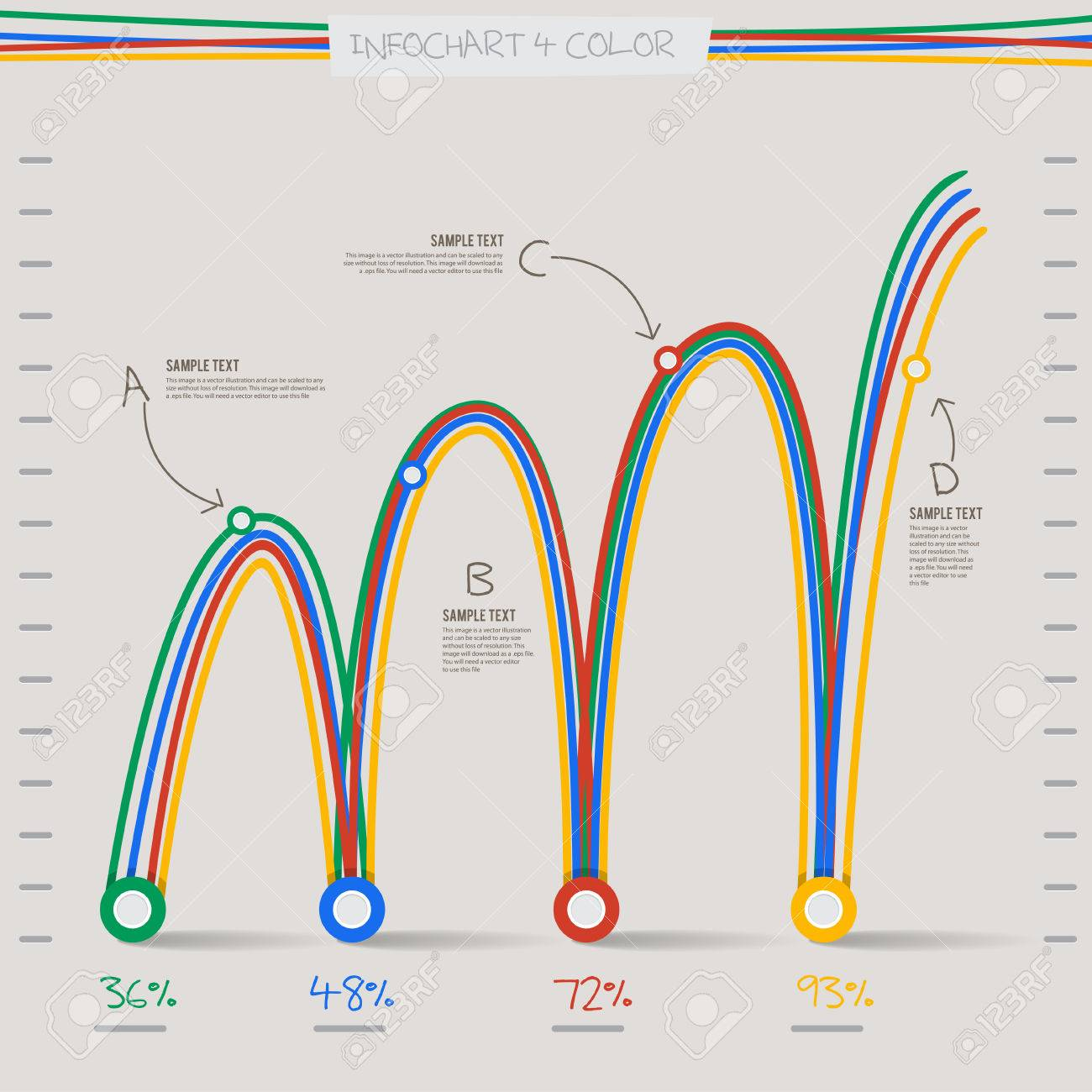 Infographic arrow diagram graph chart in 4 color and line spiral infographic arrow diagram graph chart in 4 color and line spiral for layout design template stock ccuart Choice Image