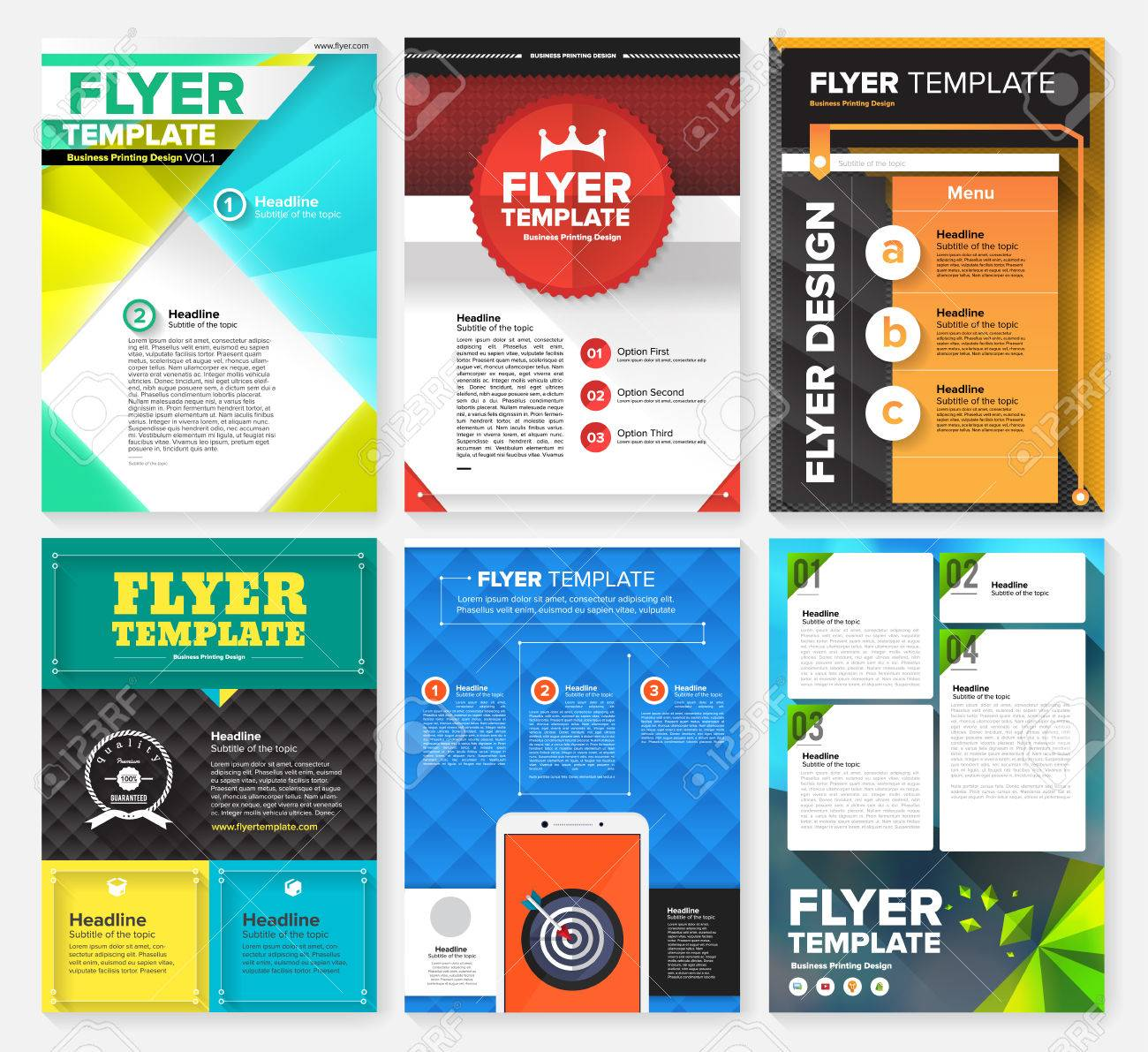 flyer templates stock illustrations cliparts and royalty flyer templates set of flyer brochure design templates geometric triangular abstract modern backgrounds