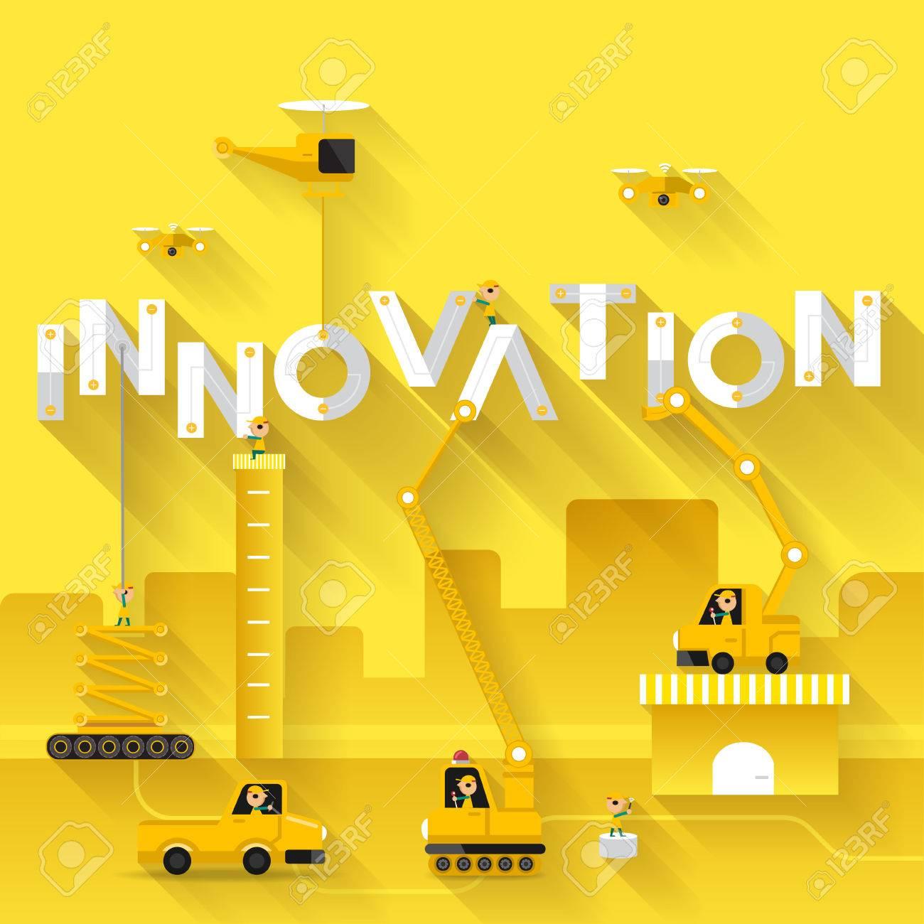 Construction Site Crane Building Innovation Text, Vector ...