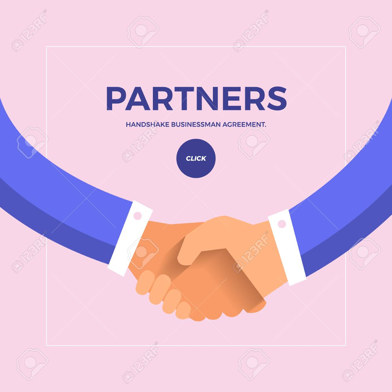 Flat design concept check hands to partner business. Vector illustrate. - 97939496