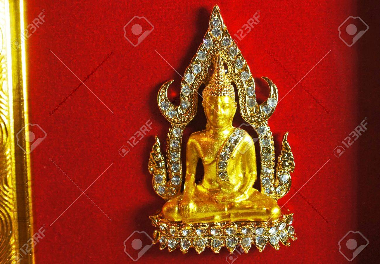 diamond gold buddha in frame stock photo 13413157