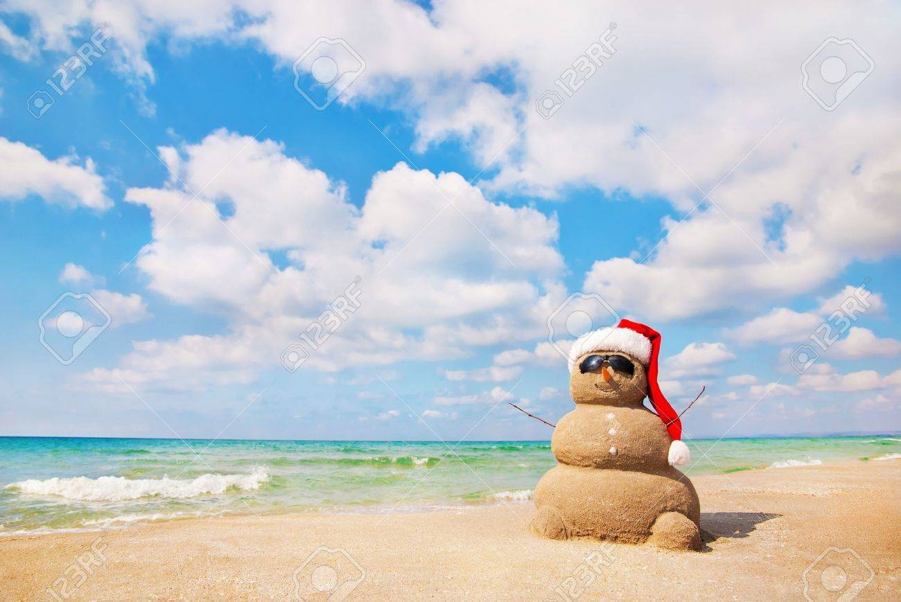 Sandy Snowman. Holiday Concept Can Be Used For New Year\'s And ...