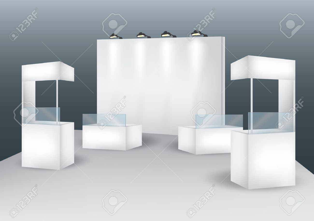 Blank booth event display vector Stock Vector - 27158200
