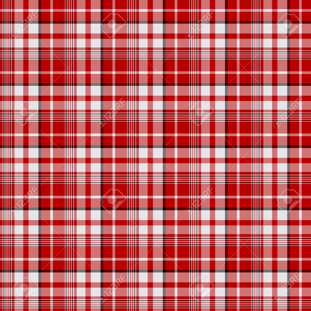 Tartan plaid pattern background. Texture for plaid, tablecloths, clothes, shirts, dresses, paper, bedding, blankets, quilts and other textile products. Vector illustration EPS 10 - 158348483