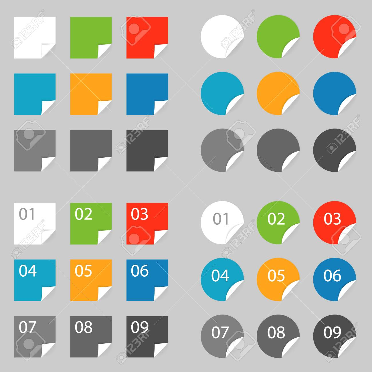 Color labels, set color labels on grey Stock Vector - 14724044