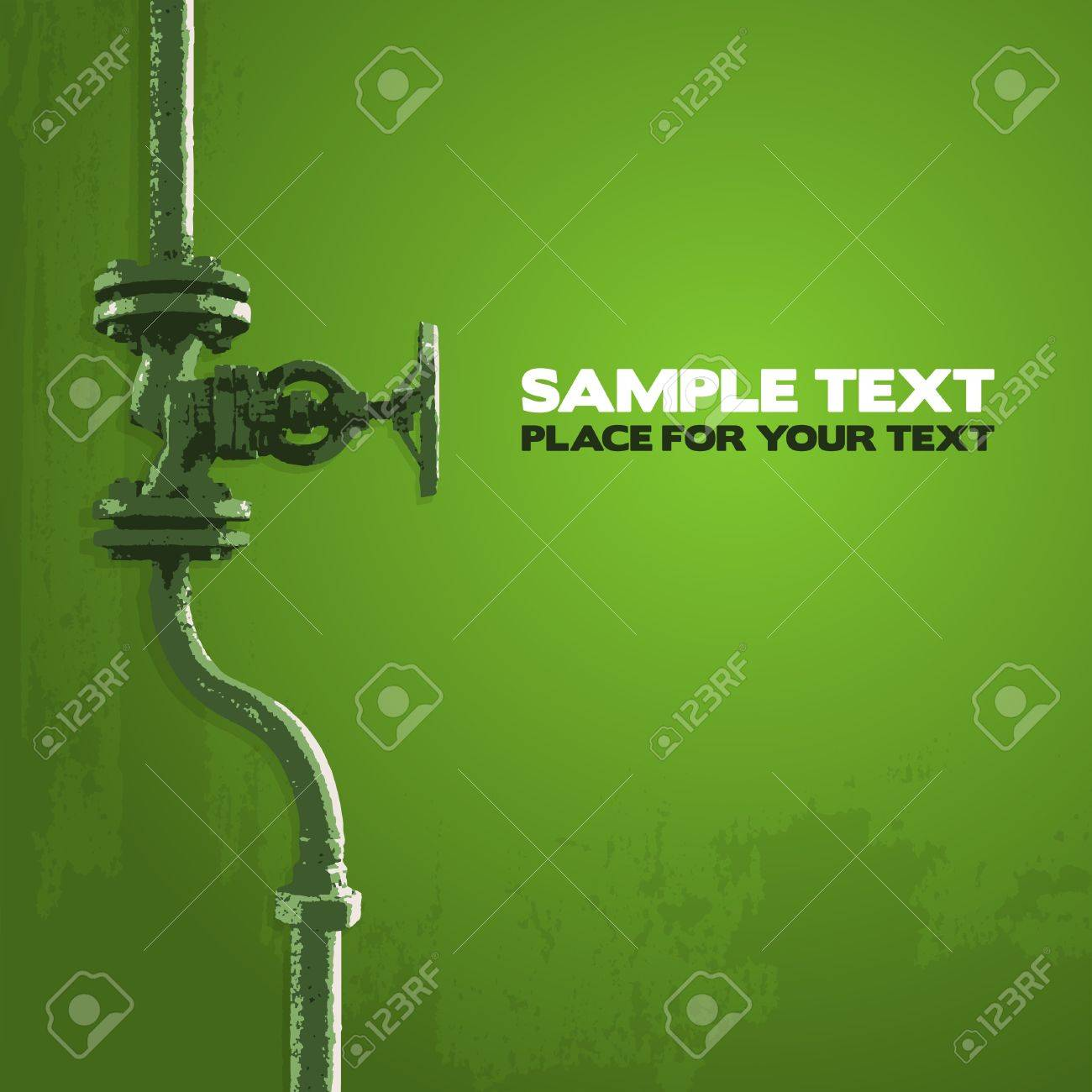 Old valve, illustration in shades of green Stock Vector - 17308792