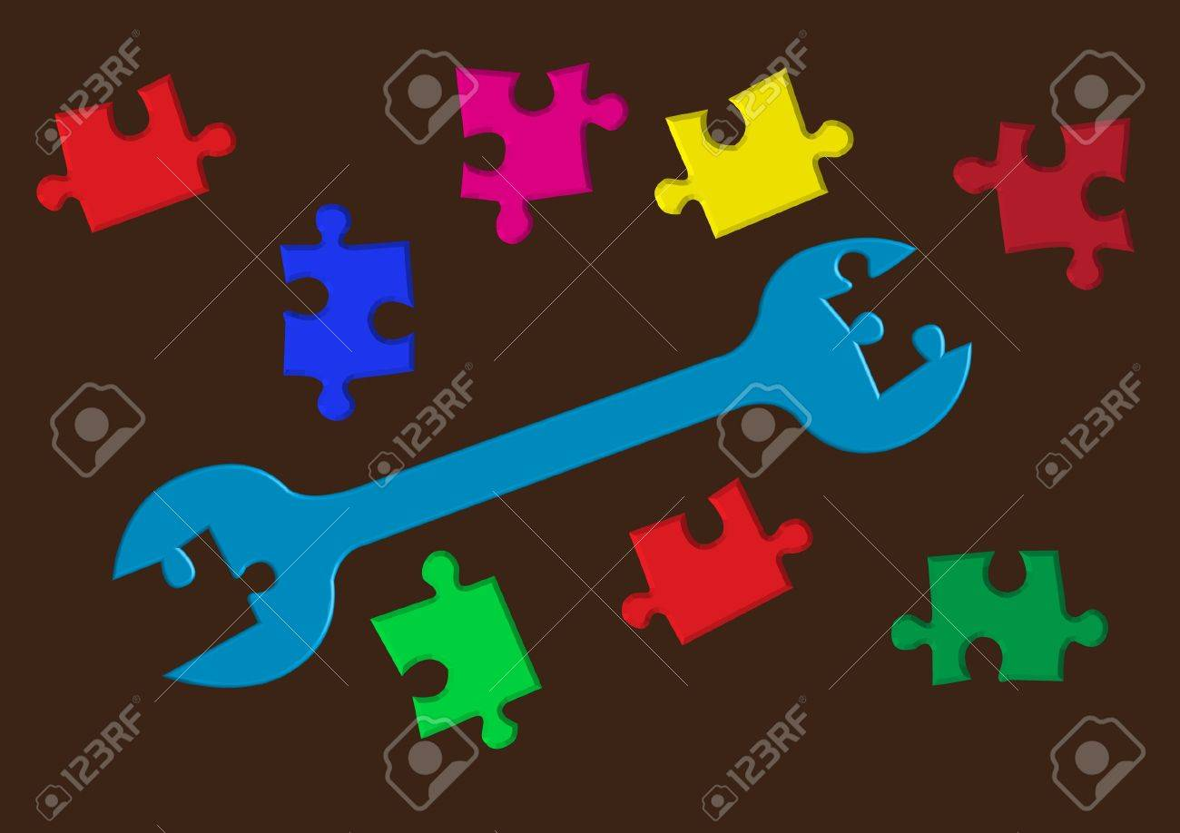 Key to puzzle concept Stock Vector - 7023368