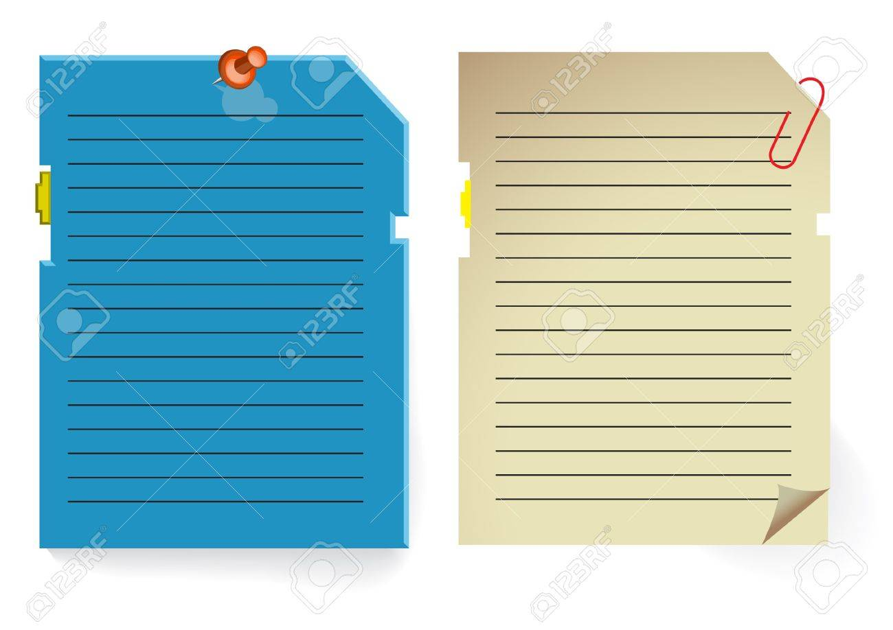 note paper stylized as pc memory card Stock Vector - 7023353