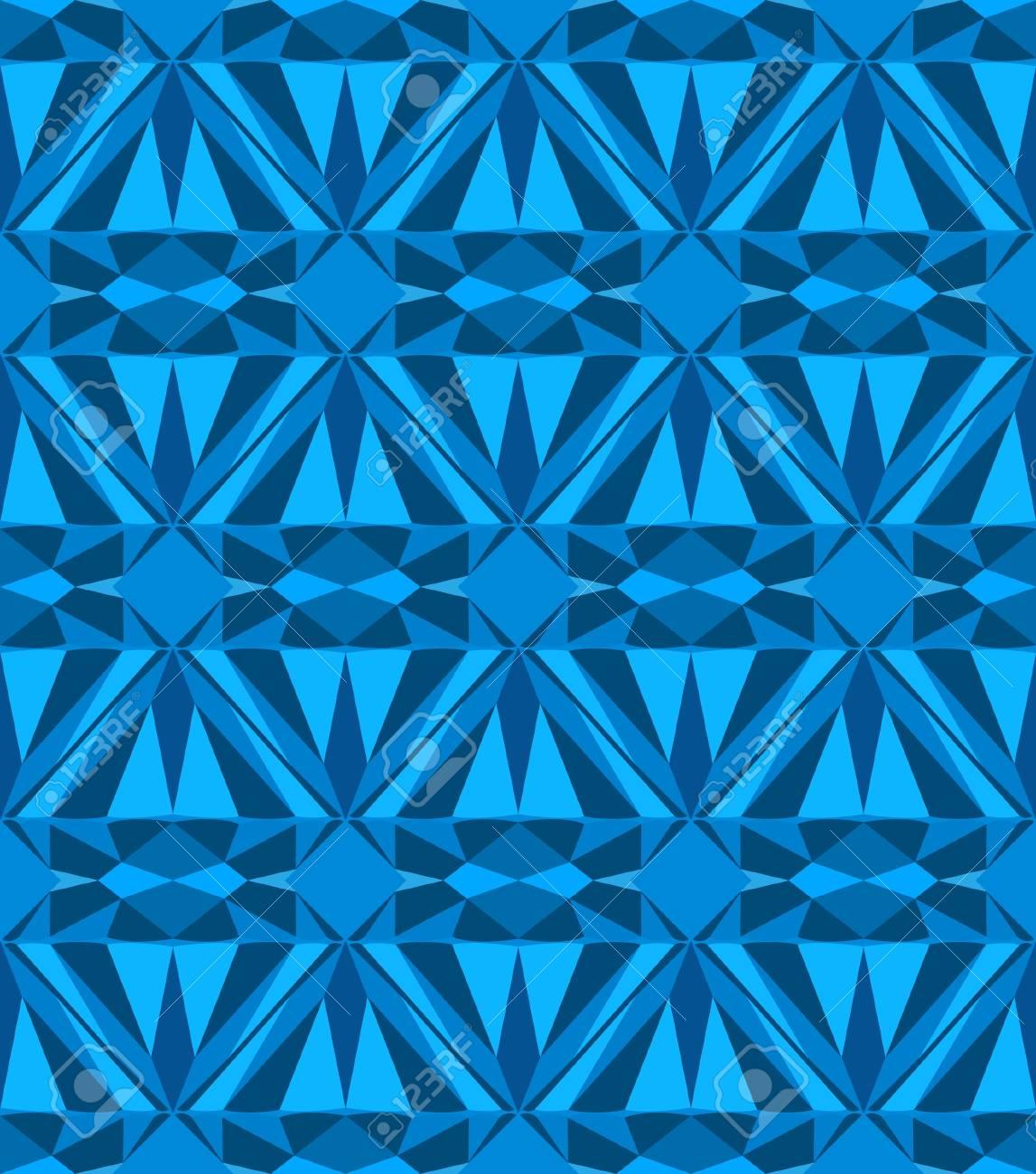 Blue diamond seamless pattern. Vector illustration. Stock Vector - 16219337