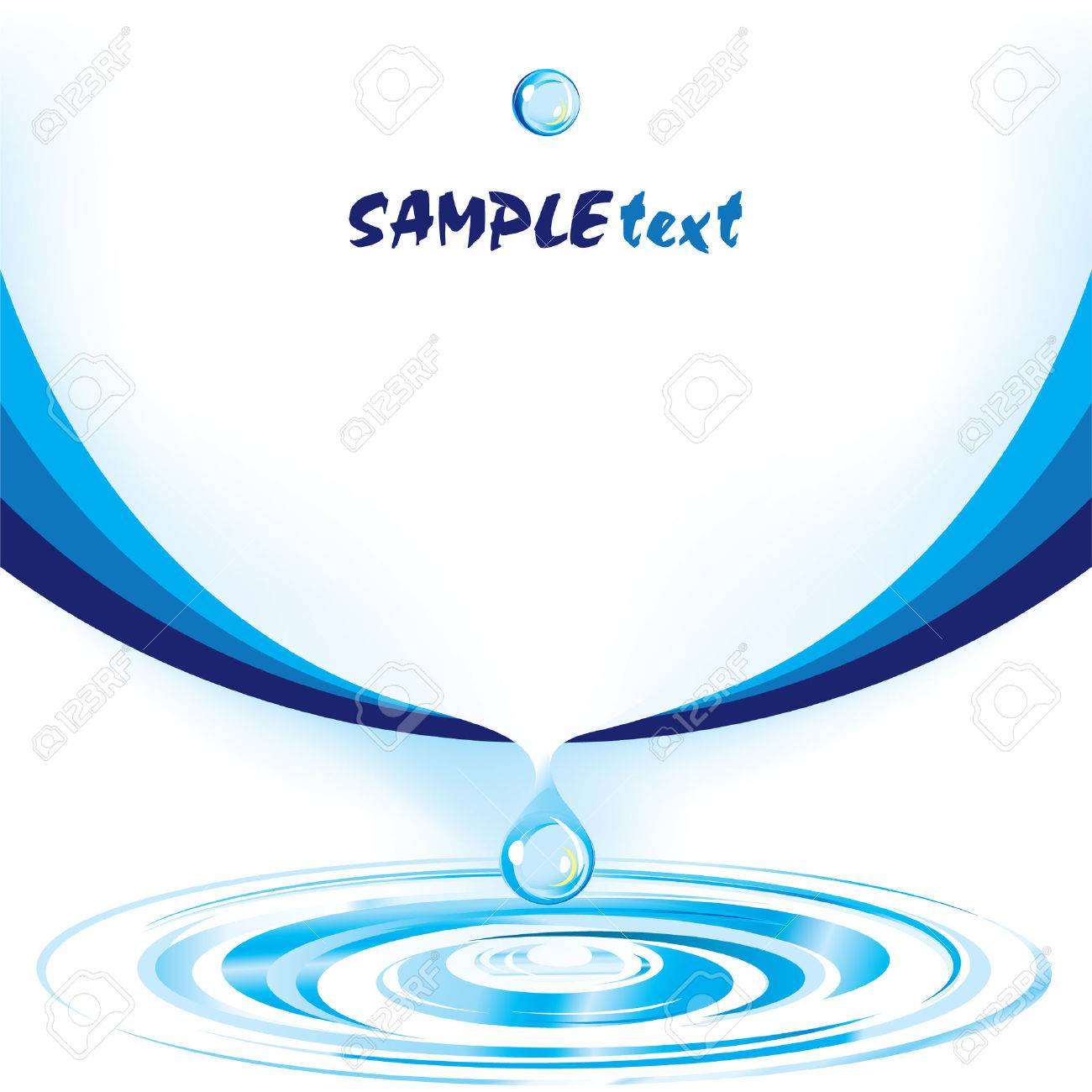 Vector Water Drop Design Template Series Royalty Free Cliparts ...