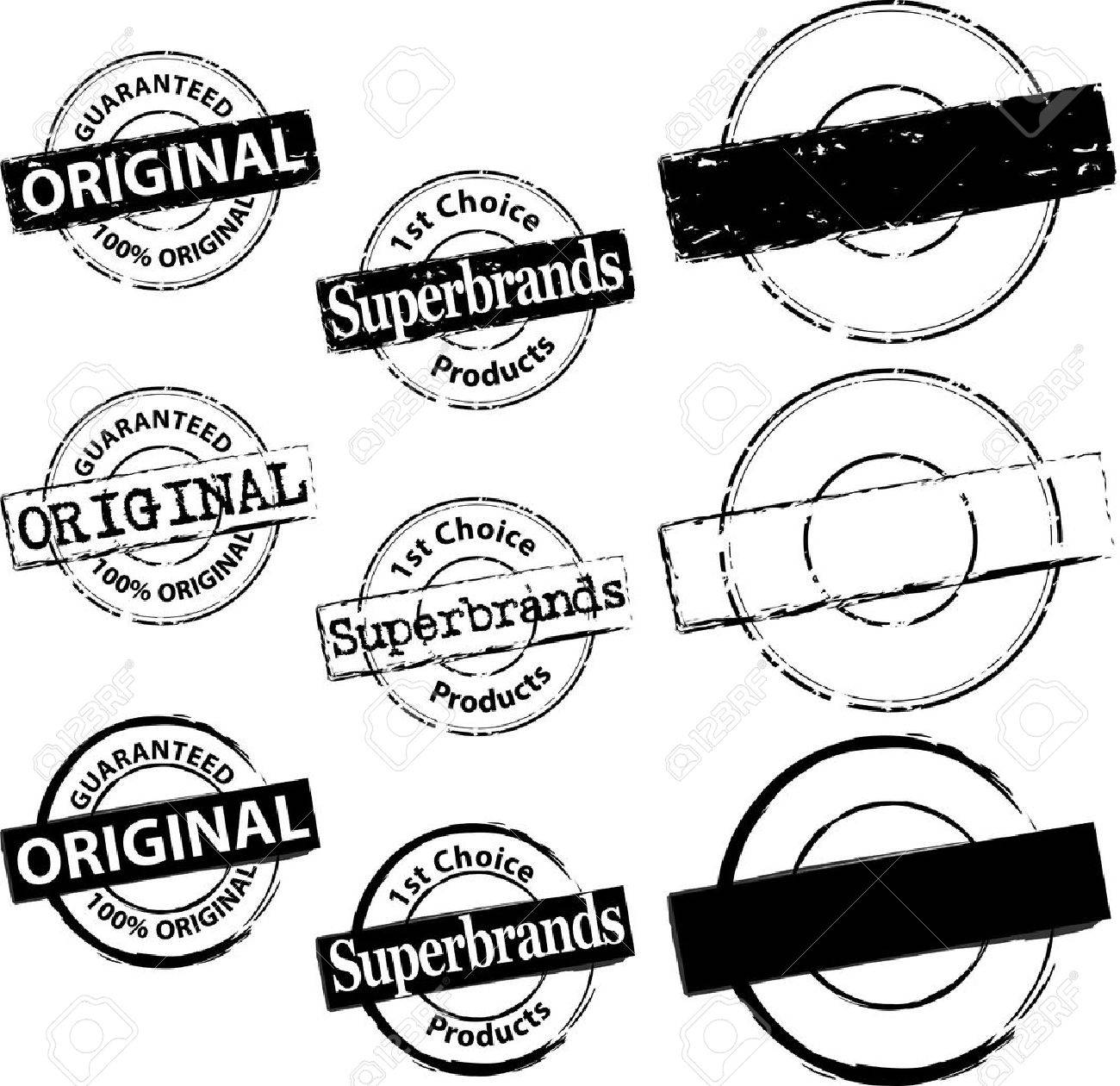 Rubber Stamp Original and Superbrand Stock Vector - 14580341