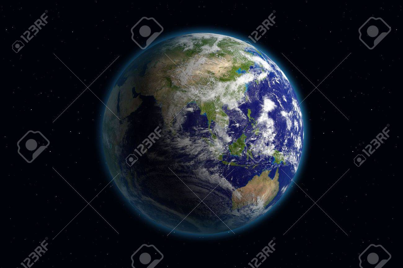 Beautiful Planet Earth. Viewing Asia. Stock Photo - 959430