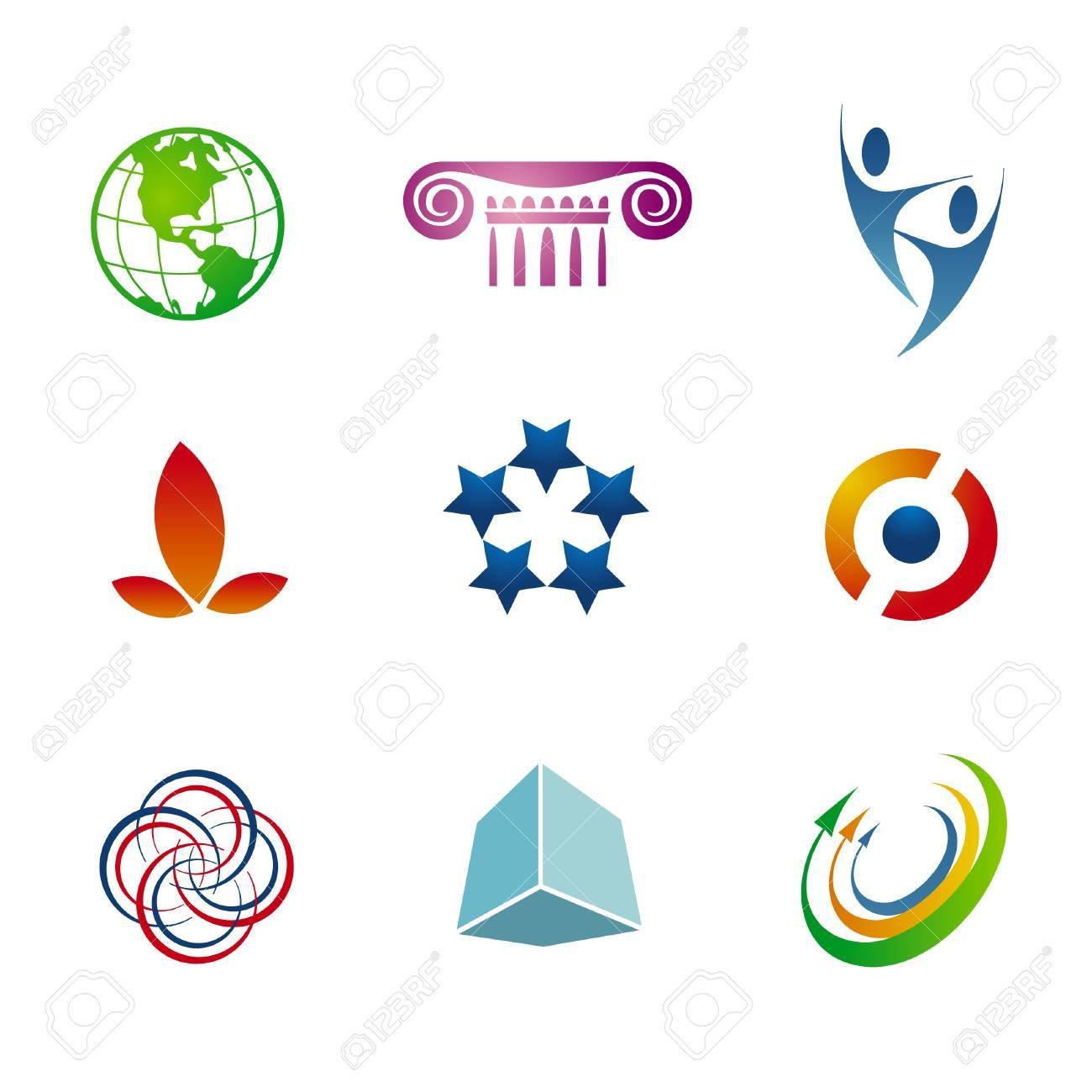 Set of corporate vector branding / logo templates. Just place your own brand name. Stock Vector - 4092673
