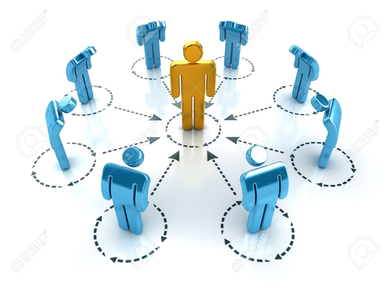 Business organization layout. Teamwork and leadership concept. Stock Photo - 6998717
