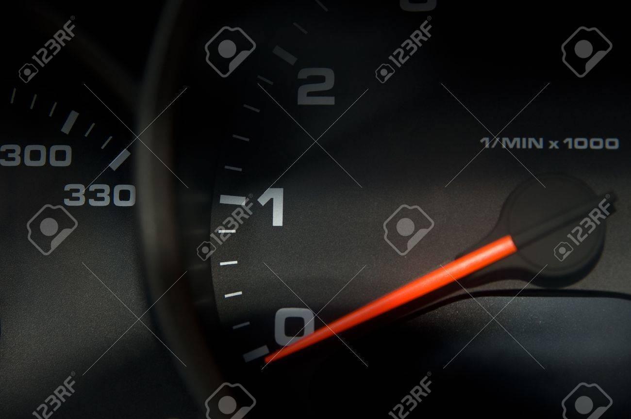 Sportscar dashboard closeup with speedometer Stock Photo - 1478632