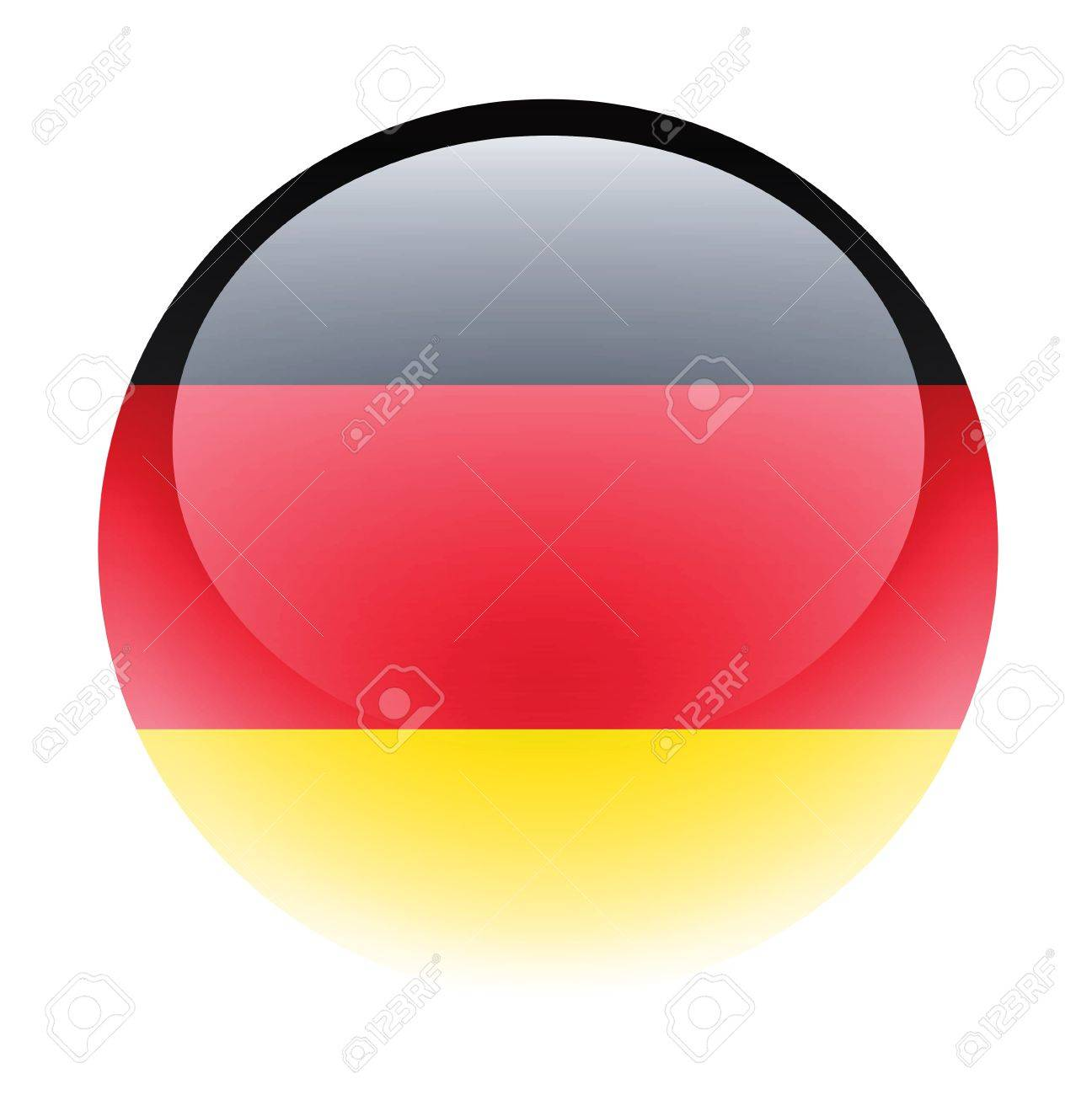 Aqua Country Button Germany Stock Photo - 9596257