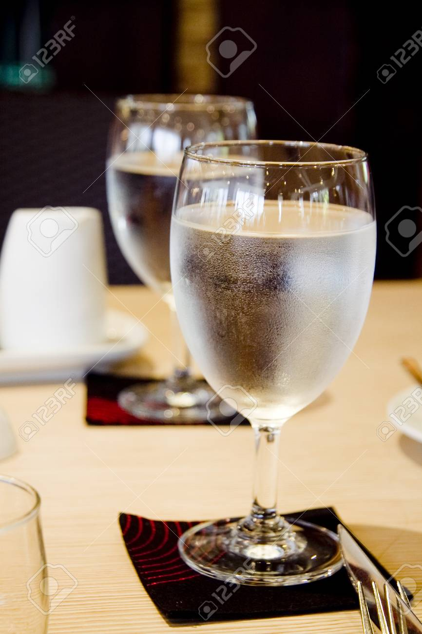 glass on table Stock Photo - 24255434