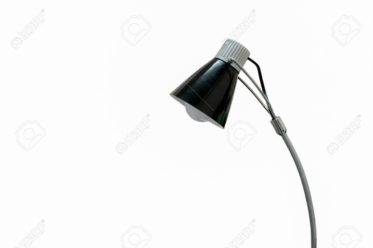 Lampe de bureau noir isolé sur blanc banque d images et photos