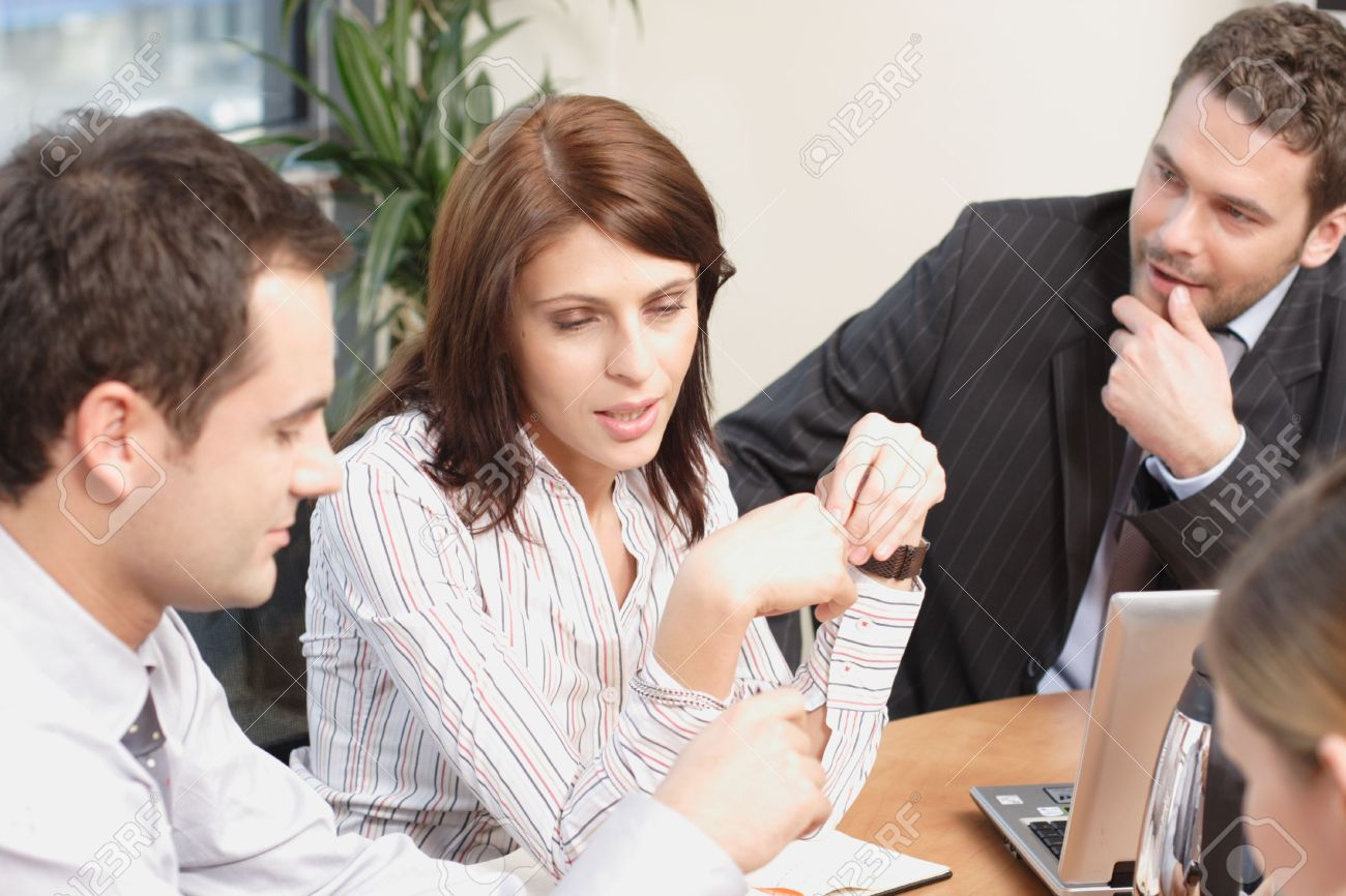 Group of  3 business people working  on project Stock Photo - 956765