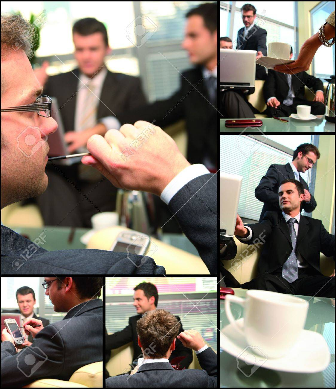 this is business group networking themed collage - interaction,thinking,cooperation Stock Photo - 2427105