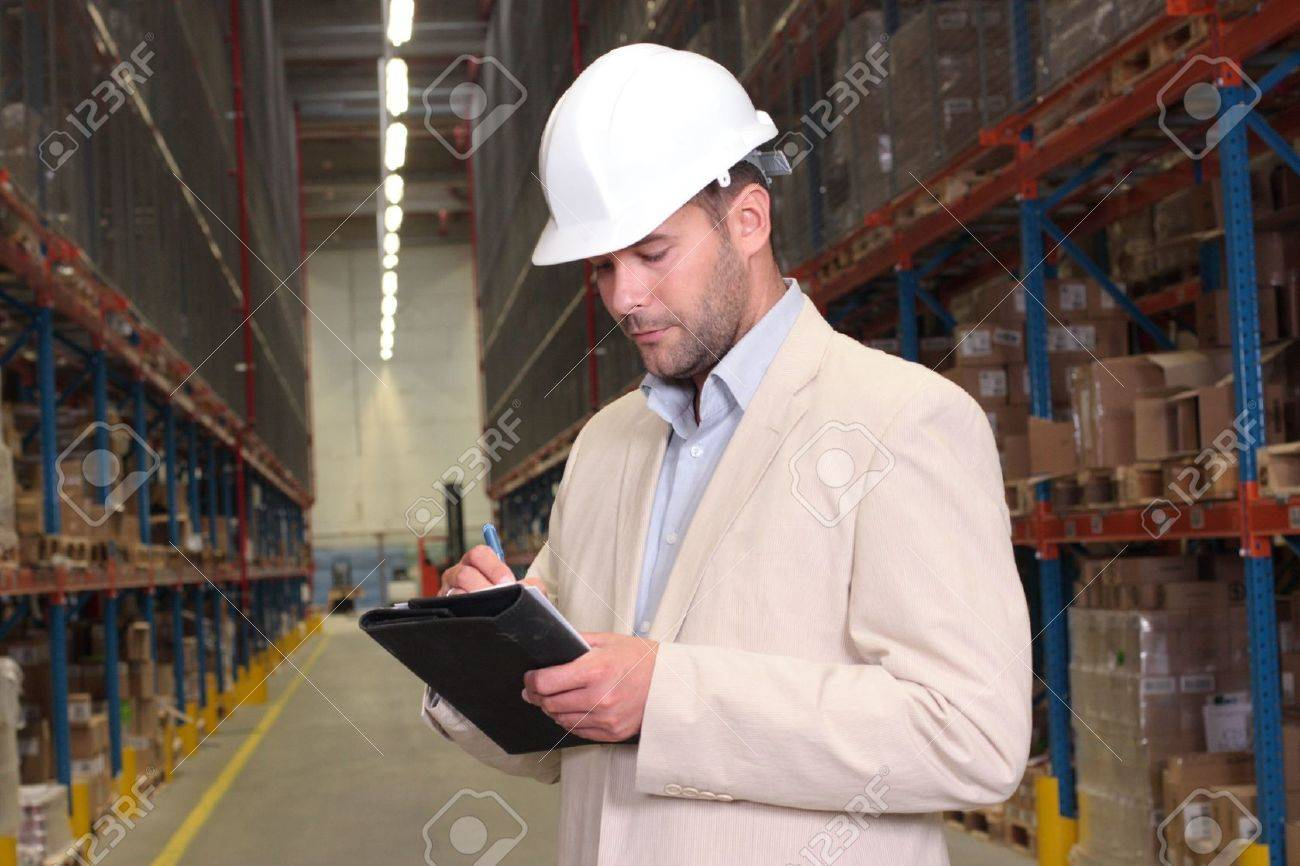 supervisor counting stocks Stock Photo - 3452658