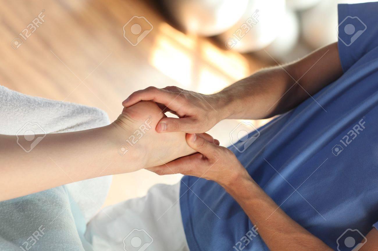 female foot massage - close up Stock Photo - 7716979