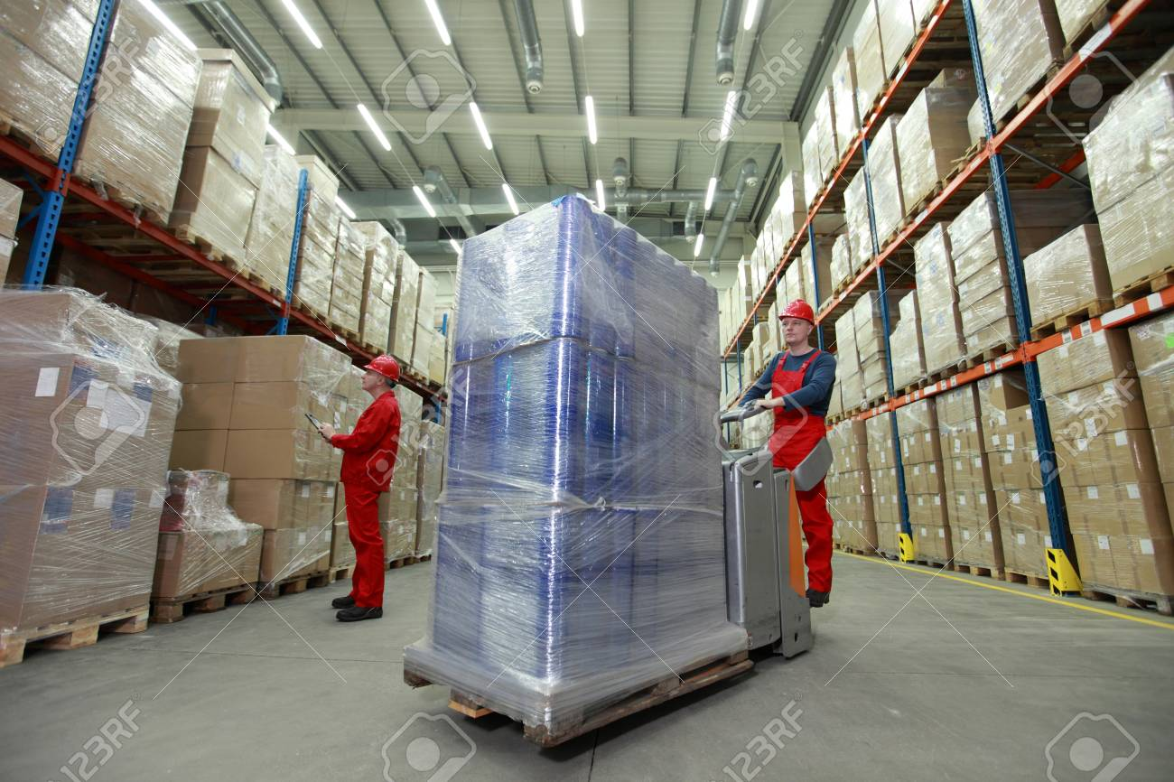 warehousing - management of the flow of resources - two workers
