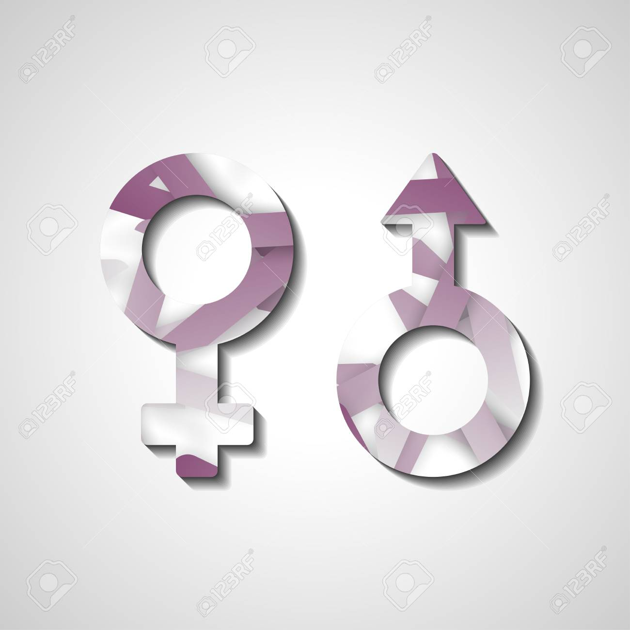Male And Female Gender Symbols Style Illustration Royalty Free