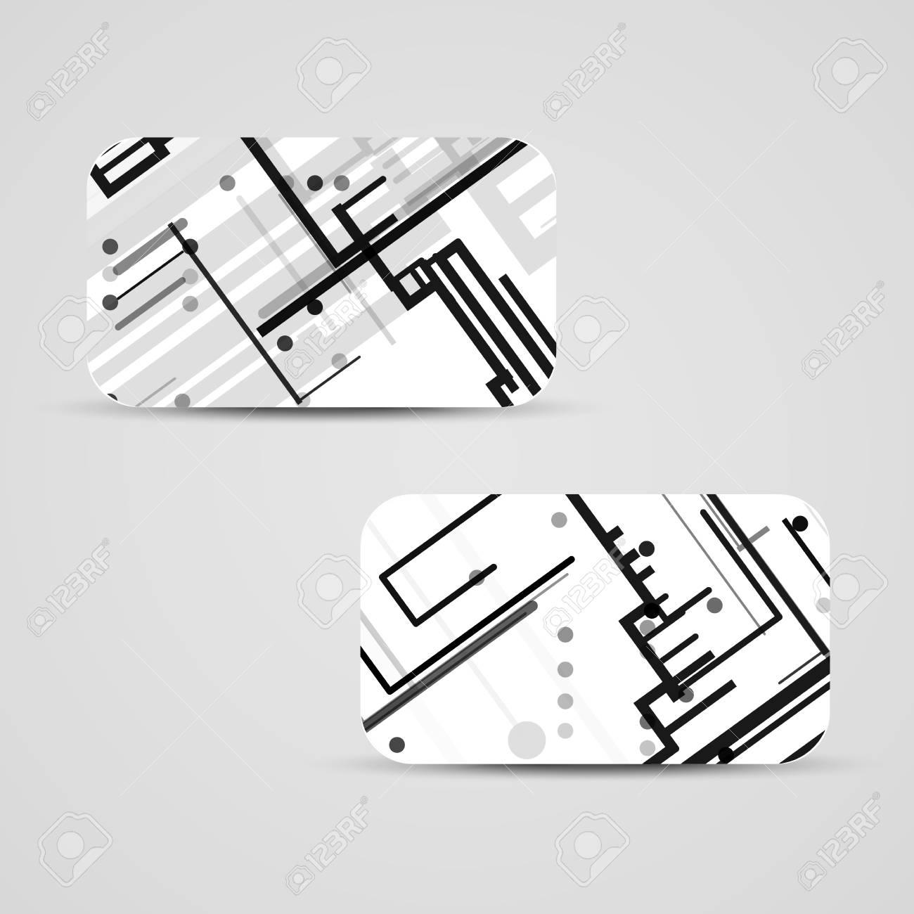 Vector business card set for your design circuit board illustration vector business card set for your design circuit board illustration stock vector colourmoves