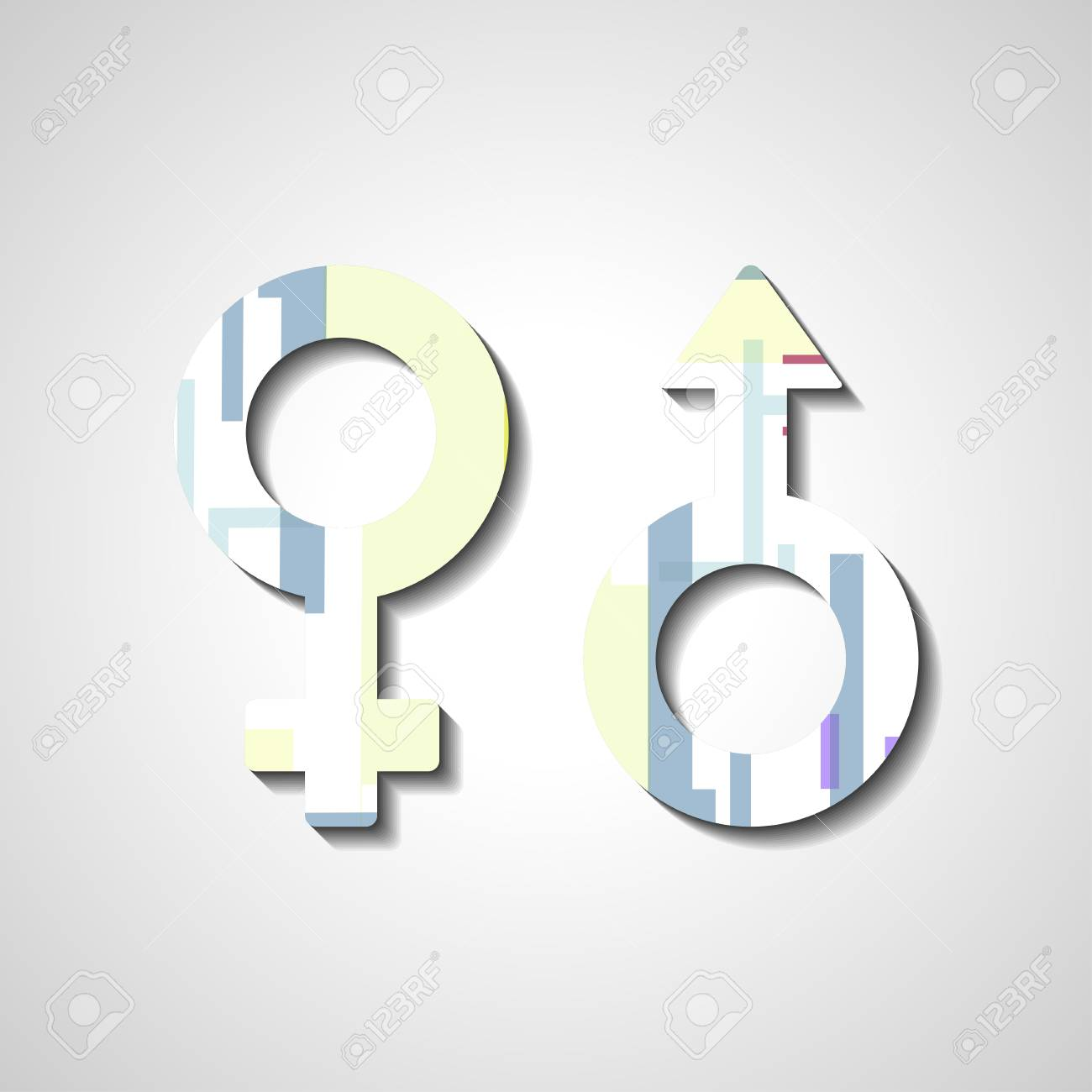 Male And Female Gender Symbols Royalty Fri Clipart Vektorer Och