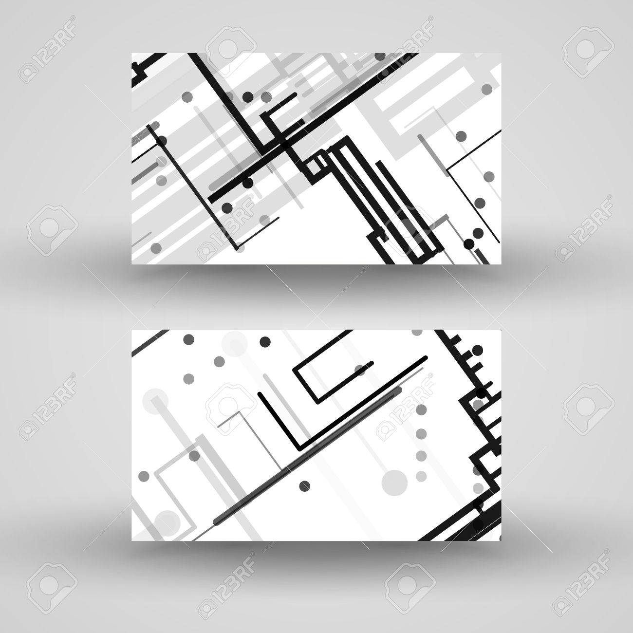 side vector circboard wiring diagram vector business card set for your design  circuit board  vector business card set for your