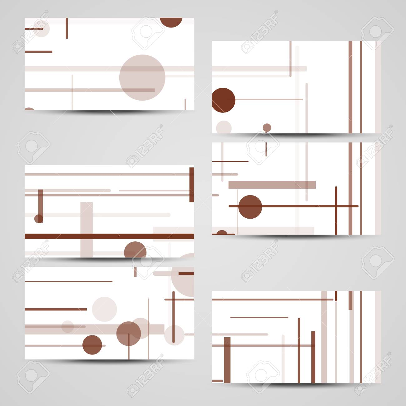 Vector Business Card Set For Your Design Circuit Board Illustration Stock