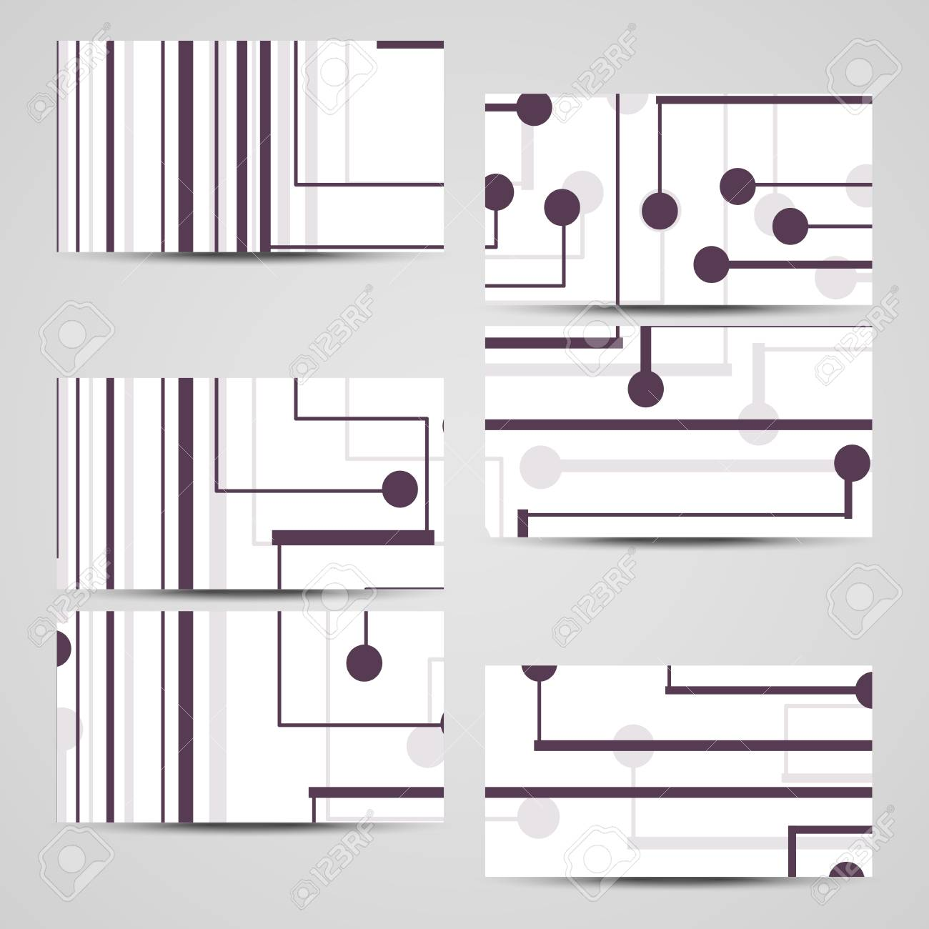 Vector Business-card Set For Your Design, Circuit Board ...
