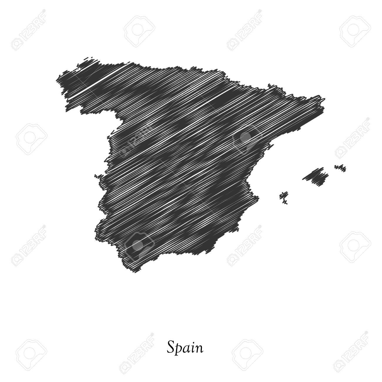 Spain map icon for your design ...