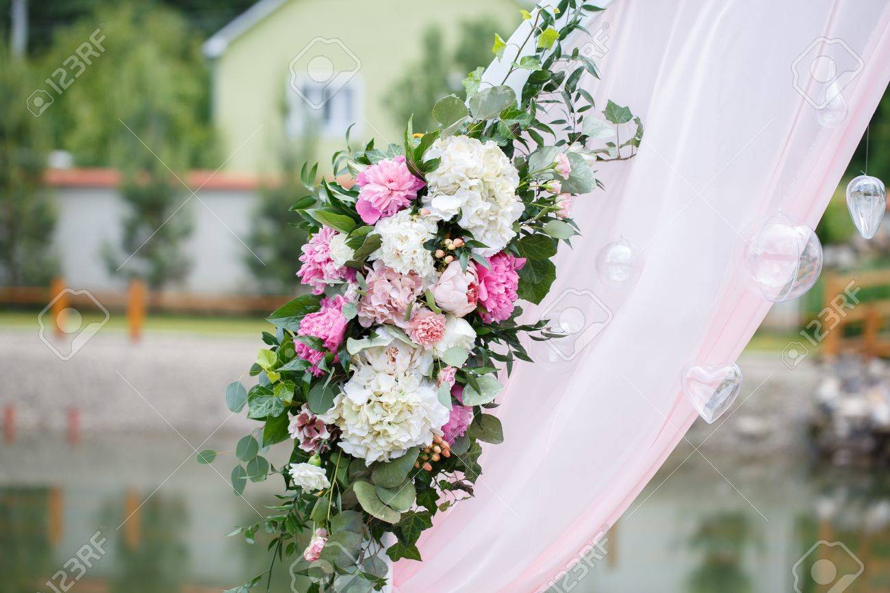 Romantic and delicate decoration for wedding marriage ceremony romantic and delicate decoration for wedding marriage ceremony in the open air stock photo 83018885 junglespirit Image collections